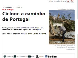 ciclone Portugal